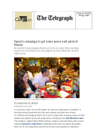 Spain´s campaigns to get some peace and quiet at dinner